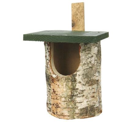 C J Wildlife Birch Log Nest Box Open Front (fsc)