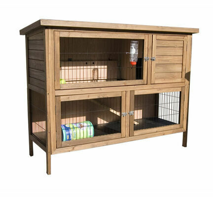 Sharples 'N' Grant Hutch 'n' Down Double 4 1/2ft Rabbit Hutch / Guinea Pig Hutch