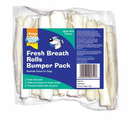 Good Boy Fresh Breath Rolls Bumper Pack 15cm (6