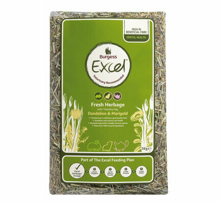 Excel Fresh Herbage With Timothy Hay 1kg