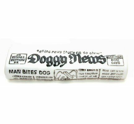 Classic Doggy Newspaper Squeaky Dog Toy - 18cm