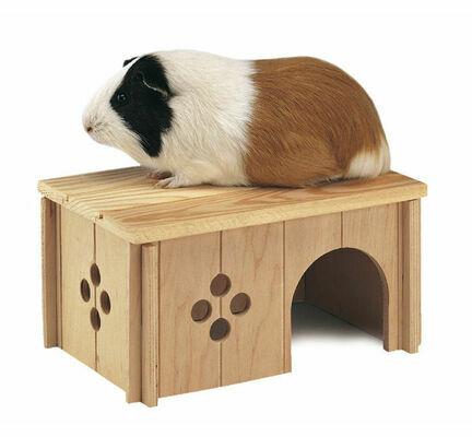 Ferplast Sin 4645 Wooden Guinea Pig House Hideaway