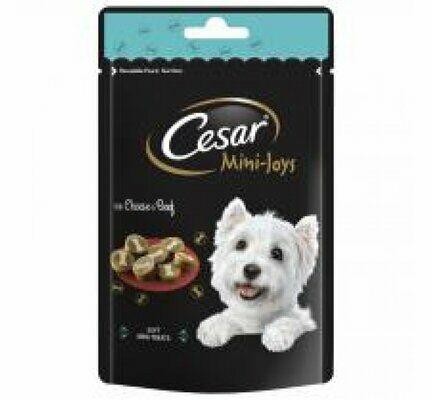 6 x 100g Cesar Mini-Joys Dog Treats Cheese & Beef