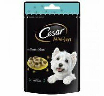 6 x 100g Cesar Mini-Joys Dog Treats Cheese & Chicken