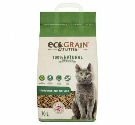EcoGrain 100% Natural Environmentally Friendly Cat Litter