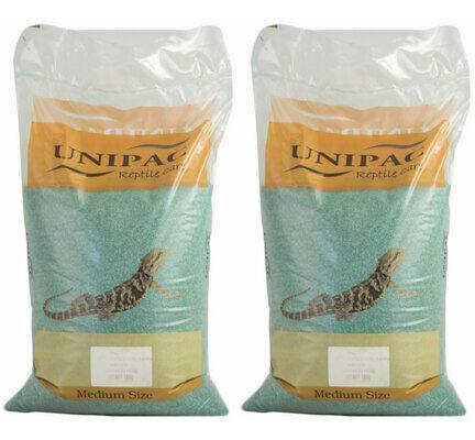 2 x 12.5kg Unipac Green Reptile Calcium Sand Substrate Multibuy