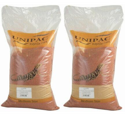 2 x 12.5kg Unipac Terracotta Reptile Calcium Sand Substrate Multibuy