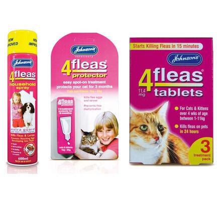 Johnson\'s 4Fleas Cat & Kitten (1 - 11kg) Flea Treatment Bundle