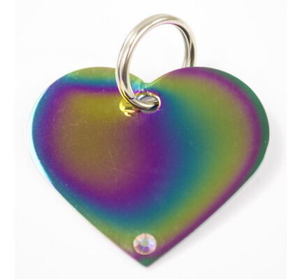 The Pet Express Heart Shaped Engravable Dog ID Tags