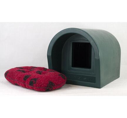 Mr Snugs Katden Outdoor Cat Kennel with Luxury Soft Quilted Mattress