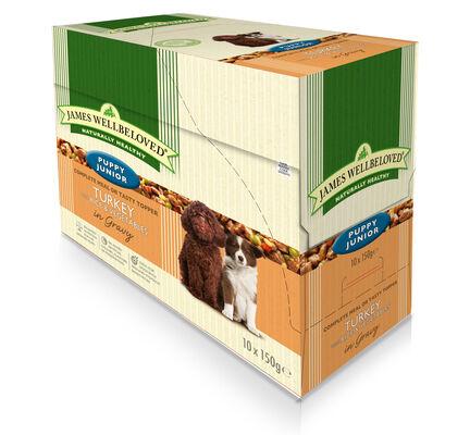 40 x 150g James Wellbeloved Puppy / Junior Turkey & Rice Pouches Multibuy