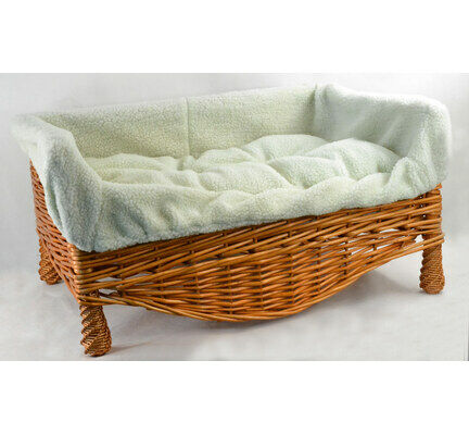 Vital Pet Products Wicker Cat/Dog Basket & Cushion Pet Bed - Various Sizes
