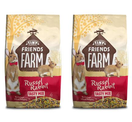 2 x 12.5kg Supreme Tiny Friends Farm Tasty Mix Russel Rabbit Food