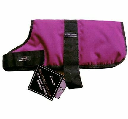 Outhwaites Waterproof Polyester Padded Dog Coat in Purple