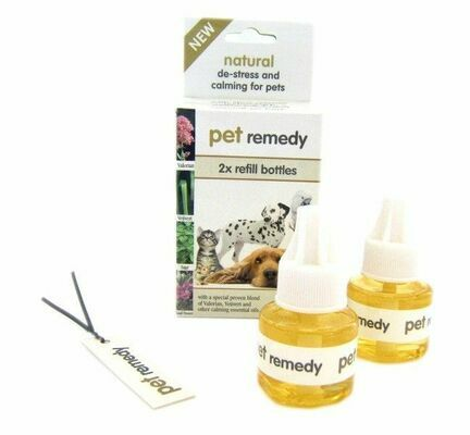 2 x 40ml Pet Remedy Natural De-Stress & Calming Diffuser Refills