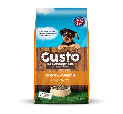 Gusto Complete Puppy / Junior With Poultry Working Dog Food - 12kg