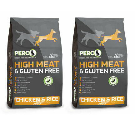 2 x 12kg Pero High Meat Chicken & Rice Adult Dog Food