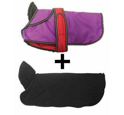 Danish Design 2-In-1 Purple Waterproof Four Seasons Performance Dog Coat