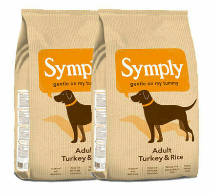 2 x 12kg Symply Adult Turkey & Rice Dry Dog Food Multibuy