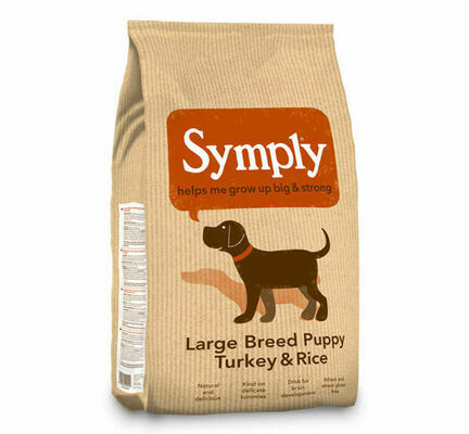 Symply Large Breed Puppy Turkey & Rice Dry Dog Food