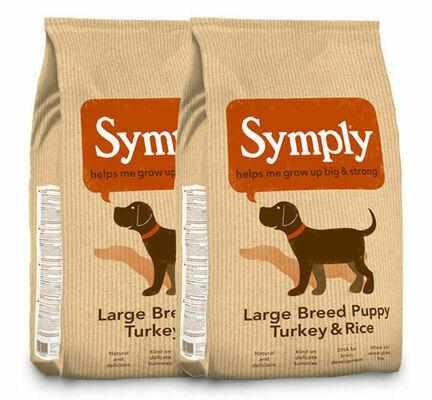 2 x 12kg Symply Large Breed Puppy Turkey & Rice Junior Dog Food Multibuy