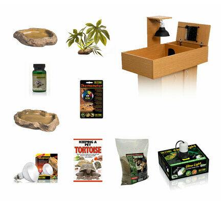 The Pet Express Monkfield Tortoise Table Oak Starter Kit