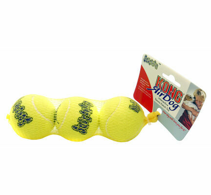 Kong AirDog Squeakair Tennis Ball Dog Toy - 3 Pack