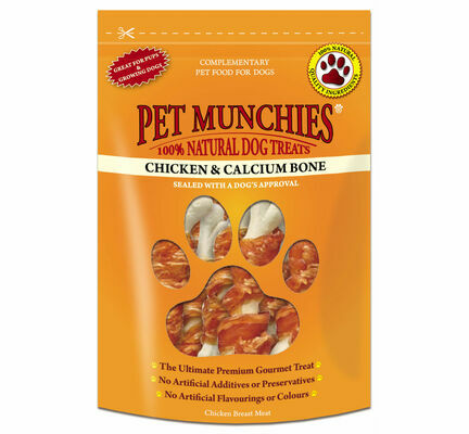 Pet Munchies Chicken & Calcium Bones Dog Treats - 100g