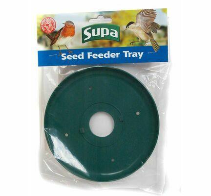 Supa Wild Bird Seed Feeder Tray Green