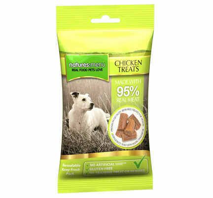 12 x 60g Natures Menu Gluten-Free Chicken Dog Treat Multibuy