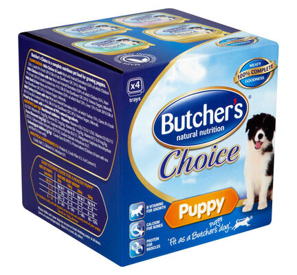 6 x Butcher's Alutray Choice Puppy Multipack 4x150g