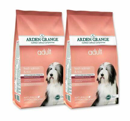 2 x 12kg Arden Grange Salmon & Rice Adult Adult Dry Dog Food