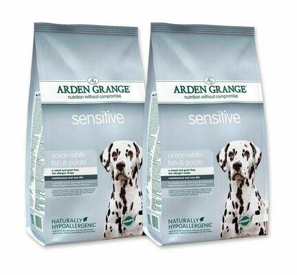 2 x 12kg Arden Grange Sensitive Fish & Potato Adult Dry Dog Food