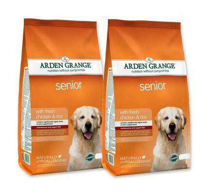 2 x 12kg Arden Grange Senior Chicken & Rice Dry Dog Food Multibuy