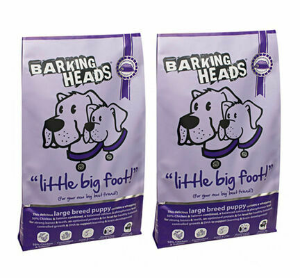 2 x 12kg Barking Heads Multi Buy Little Big Foot Puppy Food