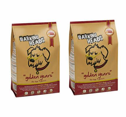 2 x 12kg Barking Heads Multi Buy Golden Years Senior Dog Food