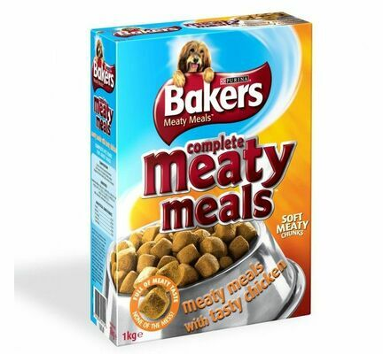 Bakers Meaty Meals Adult Dog Food - Chicken
