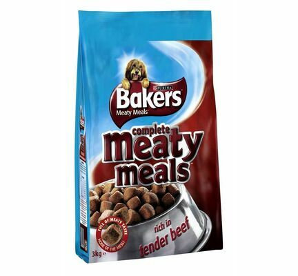 Bakers Meaty Meals Adult Dog Food - Beef
