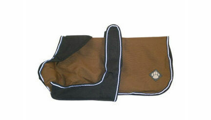 Danish Design Luxury Caramel Brown Waterproof Dog Coat