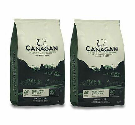 2 x 12kg Canagan Free-Run Chicken Grain-Free Adult Dry Dog Food Multibuy
