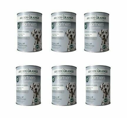 Arden Grange Partners Sensitive Fish & Potato Wet Dog Food - Cases Of 6