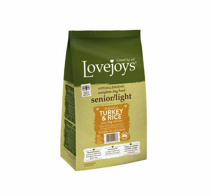 Lovejoys Hypoallergenic Senior/Light Turkey & Rice Dry Dog Food