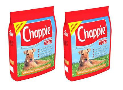 2 x 15kg Chappie Chicken & Wholegrain Adult Dog Food