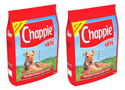 2 x 15kg Chappie Beef & Wholegrain Adult Dog Food