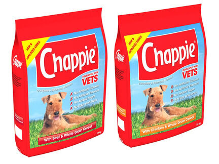 2 x 15kg Chappie Chicken & Beef Wholegrain Adult Dog Food
