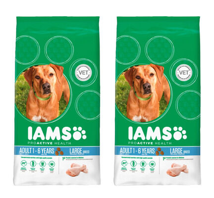 Iams Multi-Buy Large Breed Chicken Adult Dog Food - 2 x 12kg