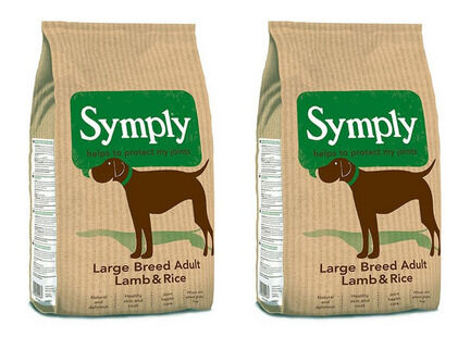 2 x 12kg Symply Large Breed Adult Lamb & Rice Dry Dog Food