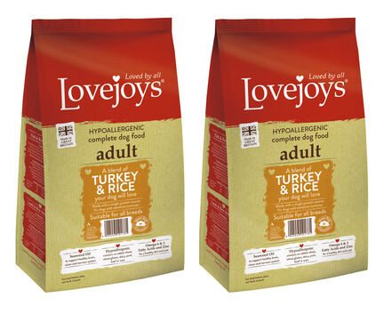 2 x 12kg Lovejoys Turkey & Rice Dry Adult Dog Food Multibuy
