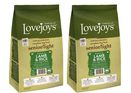 2 x 12kg Lovejoys Hypoallergenic Senior/Light Lamb & Rice Dry Dog Food Multibuy