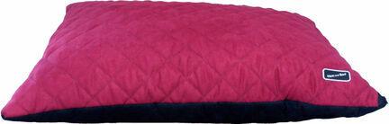 Hem & Boo Deep Filled Waterproof Duvet Dog Cushion - Black & Raspberry Crush